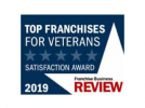 Franchise Business Review Top Franchises for Veterans logo.