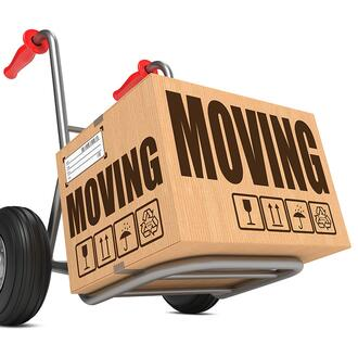 Moving box on a dolly