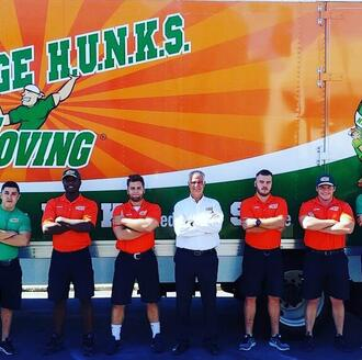 College HUNKS Moving team