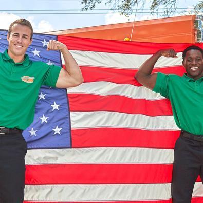 2-hunks-holding-flag