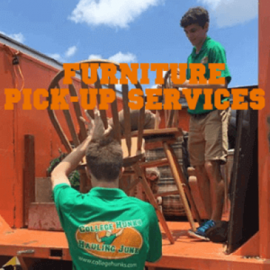 College Hunks Furniture Pick-Up Services