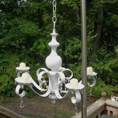 Junk chandelier