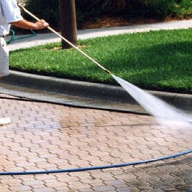 Power washing one's home