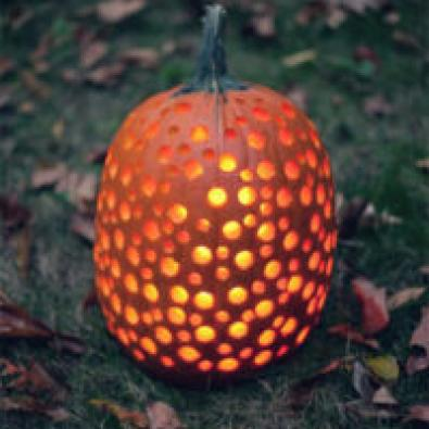 Pumpkin with holes in it