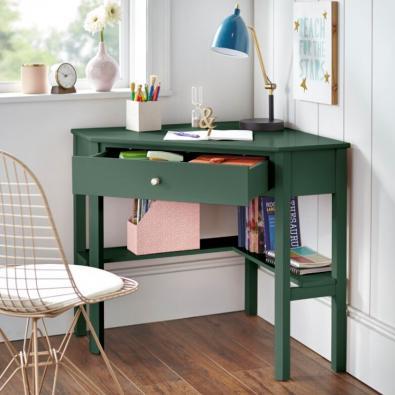 Green Suri corner desk