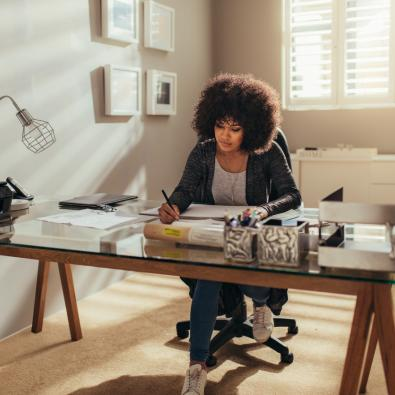 woman-working-in-home-office