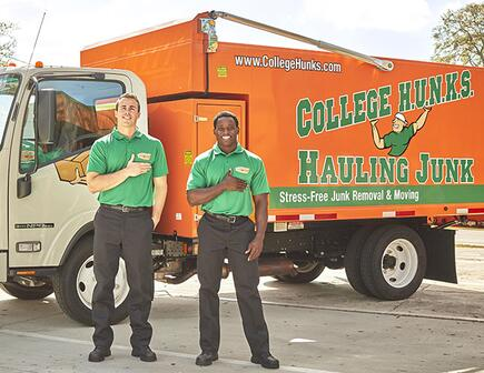 College Hunks holding hand over heart