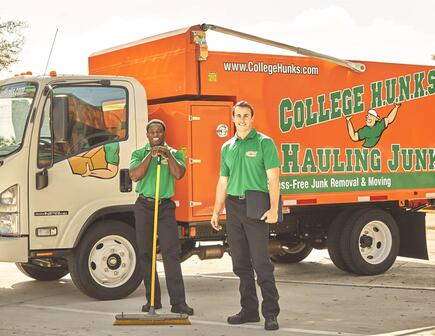 College Hunks In Front of Their Truck
