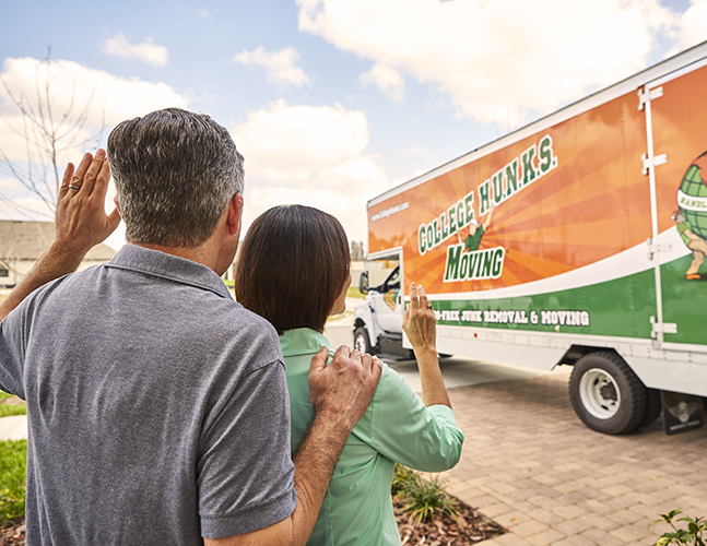 Parents Saying Goodbye to College Hunks Movers
