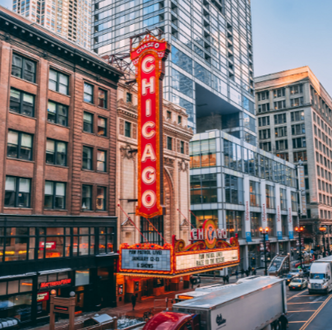 Chicago red marquee