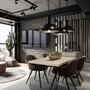 Industrial home decor design accents